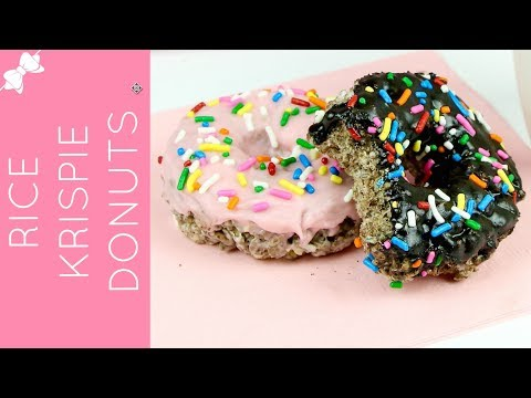 How To Make Easy Rice Krispies Treat Donuts // Lindsay Ann Bakes