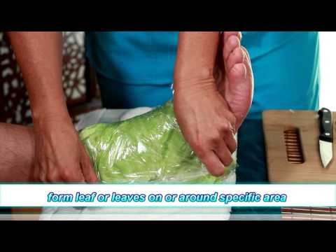 Cabbage Poultice - Step-by-step Demonstration