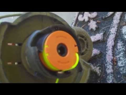 How To Replace Weed Wacker String Trimmer Line (Demonstrated on a Worx String Trimmer)