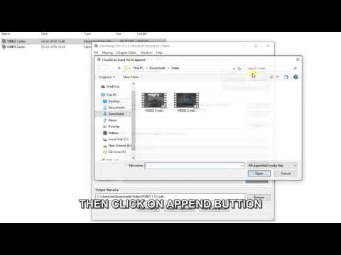 HOW TO MERGE TWO VIDEO FILES IN ONE WITH MKVMERGE, MKVTOOLNIX