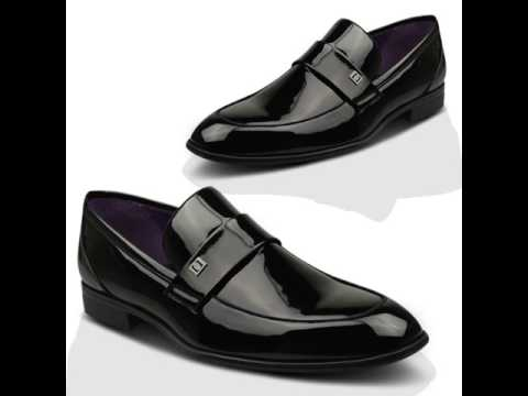 Xelay Mens Black Patent Leather Lined Wedding Formal Shoes UK Size 6 7 8 9 10 11