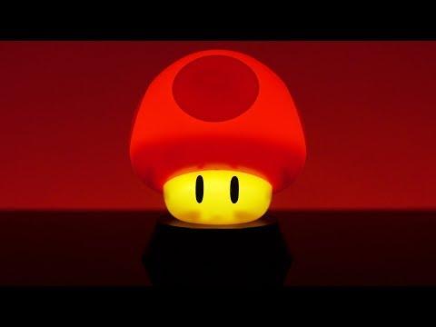 Super Mario Super Mushroom Icon Light | Paladone