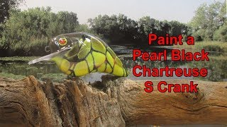 Airbrush Paint a Shad Pattern Crankbait - Custom Lure Painting