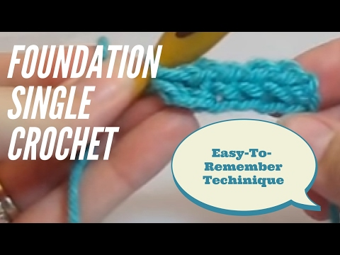 Foundation Single Crochet Tutorial #1: How to Foundation Single Crochet (FSC)