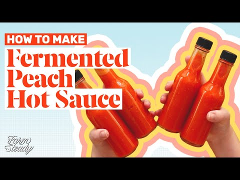 Xxx Mp4 How To Make Fermented Peach Hot Sauce With Fresno Peppers Homemade Hot Sauce Recipe 3gp Sex
