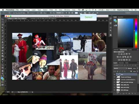 How to Create a Collage in Photoshop CC 2014