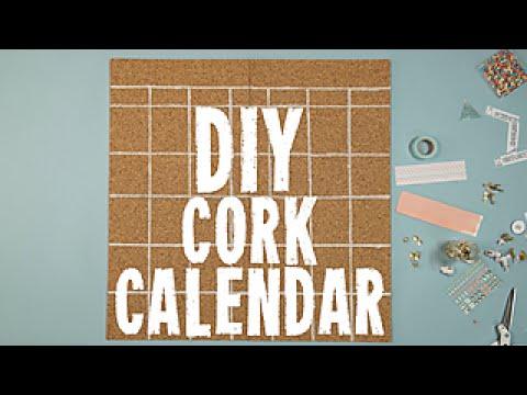 How to Make a DIY Cork Calendar - HGTV Happy
