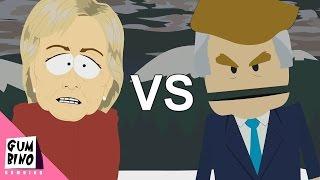 Donald Trump vs Hillary Clinton - ERB animated (Epic rap battles of history south park)