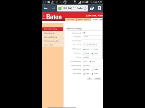 How to iball batan network hide