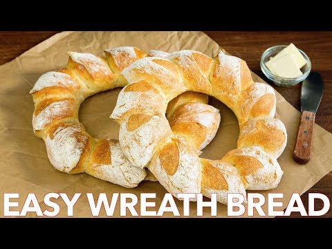 How To Make Easy Holiday  Bread Wreath Recipe