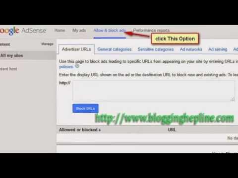 How do I block Google AdSense advertisers website?