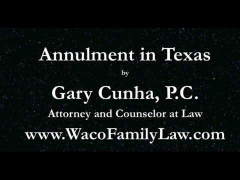 Annulments in Texas