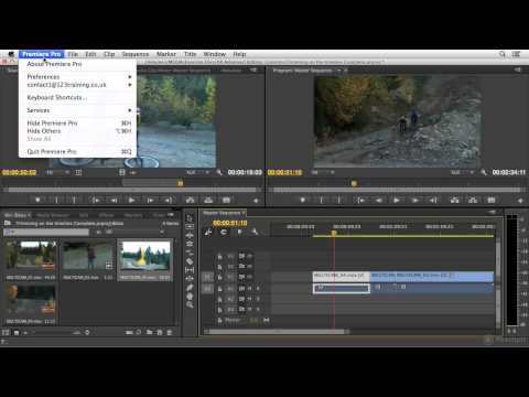 Trimming on the Timeline in Premiere Pro CC