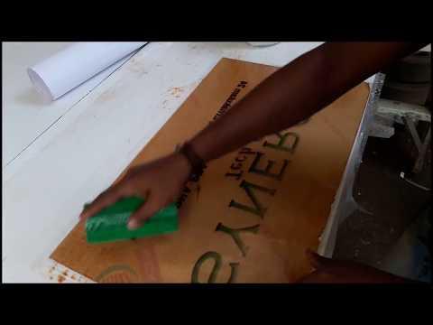 How to make acrylic sign board   easy way to make acrylic board