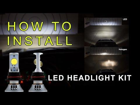 LED Headlight How to Install LED headlight Kit  LED Headlight Bulbs Conversion Kit