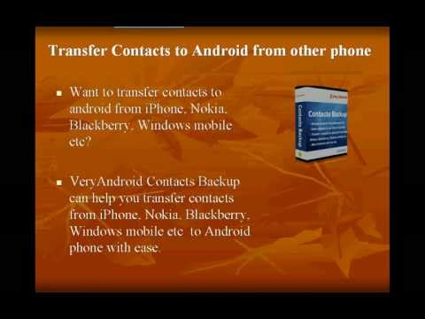 How to transfer nokia contacts to android with ease