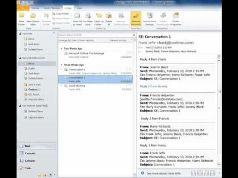 Clean up Conversations and Folders in Outlook 2010