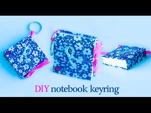 How to make mini notebook keychain | DIY keyring | miniature book | Beads art