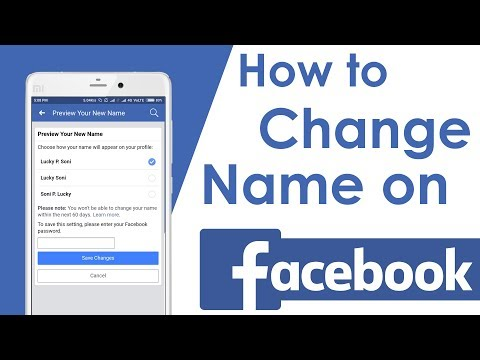 How To Change Name on Facebook Using Android