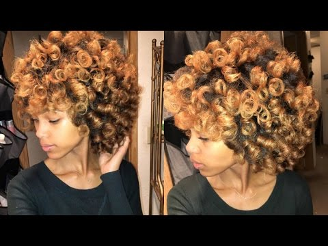Heatless Voluminous Curls | Perm Rod/Roller Set on Stretched Natural Hair