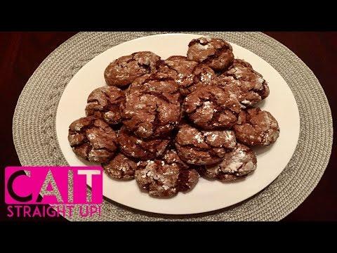 Chocolate Crinkle Cookies Recipe | Easy Christmas Cookies | Cait Straight Up