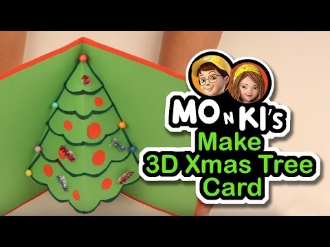 Mo n Ki make 3D Xmas Tree Card - Worldoo