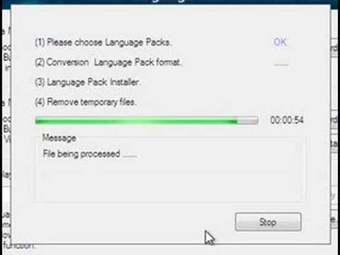 Install Vista Language Packs MUI on all versions of Vista