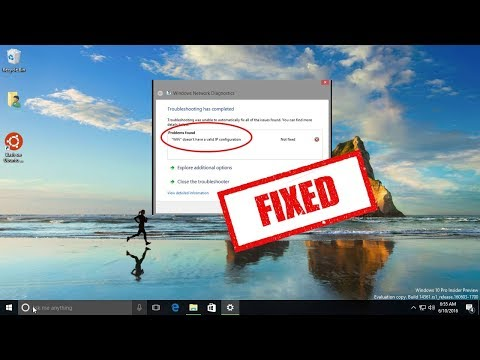 Fix WiFi doesn't have a valid IP configuration Error in windows 7/8/10 (2017)