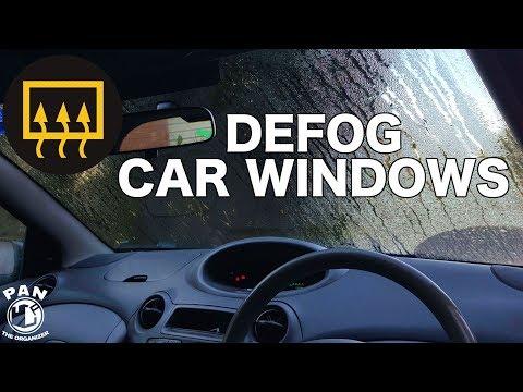 HOW TO DEFOG CAR WINDOWS SUPER FAST !!