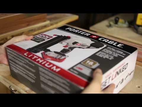 Porter Cable Cordless Brad Nailer Unboxing/Cedar Closet Build