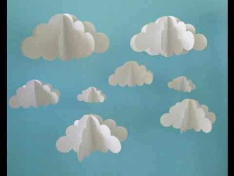 Kids 3d Cloud DIY Using Shaving Cream