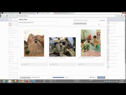 How to Add Photo Album to your facebook