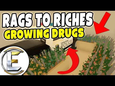 Growing Drugs In The Police Station! - Unturned Roleplay Rags to Riches #63