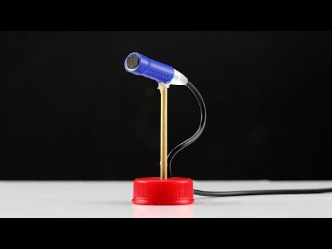 How to Make Mini Microphone With Stand at Home - Making Tricks