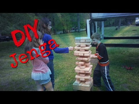 How to build a GIANT Jenga game with adjustable base for camping