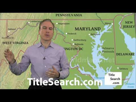 What do you need to do to run a title search in Maryland? | AFX