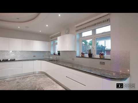 100% Luxury Collection Silver - Glass Splashback By Creoglass Design