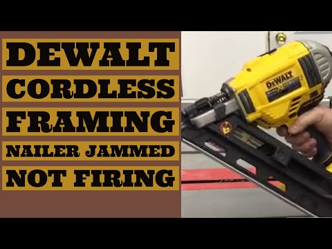 Dewalt Framing Nailer Jammed Won't Fire Cordless 20V DCN692B