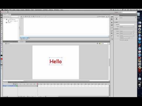 Flash CS6 Shape Tween with text