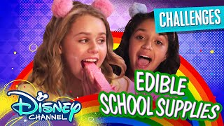Download Edible School Supply Challenge 😋   Ruth & Ruby Ultimate Sleepover   Disney Channel Video