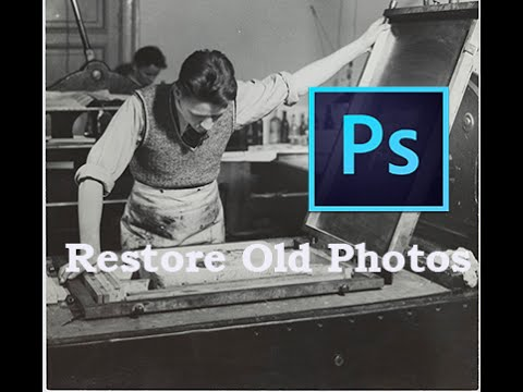 How To Restore Old Photographs with Photoshop CC