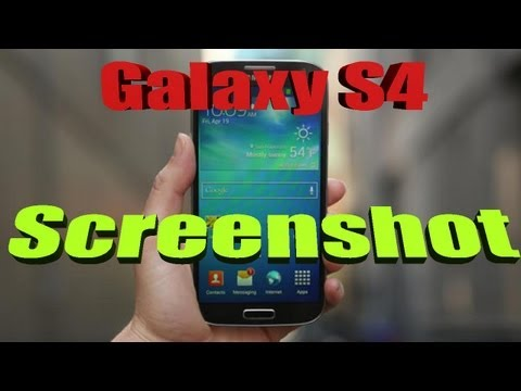HOW TO: Take a SCREENSHOT on the Samsung Galaxy S4 | Palm motion ScreenShot