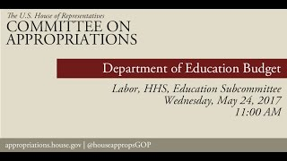 hearing department of education budget eventid106008