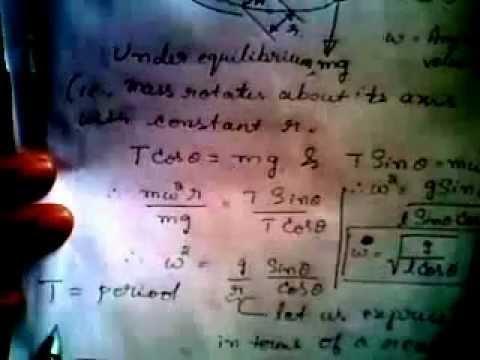 Conical pendulum analysis
