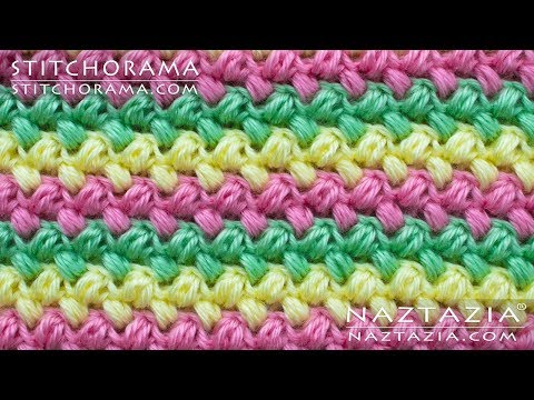 How to Crochet the Bean Stitch - Miniature Puff Stitches by Naztazia