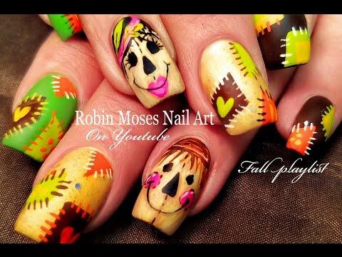 Cute Scarecrow Nails! | DIY Fall Patchwork Nail Art Design Tutorial