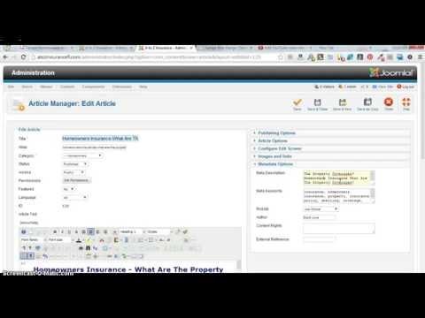SEO, Meta Description, Keywords, for Joomla Article