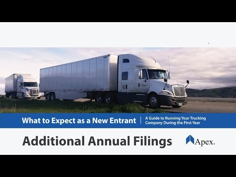 Additional Filings for your Trucking Company