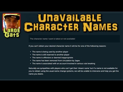 Unavailable Character names - Why you might not get a certain name