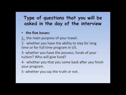 US nterview visa-Morocco-